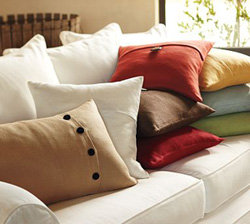 Pottery Barn's Textured Linen Pillow Covers