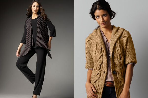 Fall fashion camel and hip length vest