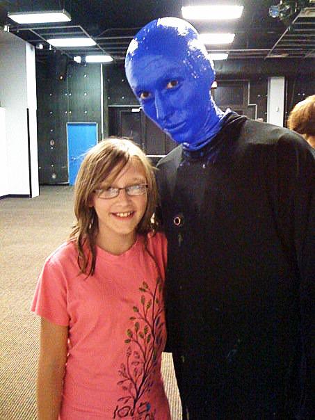 hannah at the blue man show universal orlando
