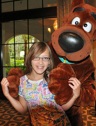 hannah and scooby doo at the hard rock hotel