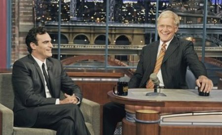 Joaquin Phoenix and David Letterman