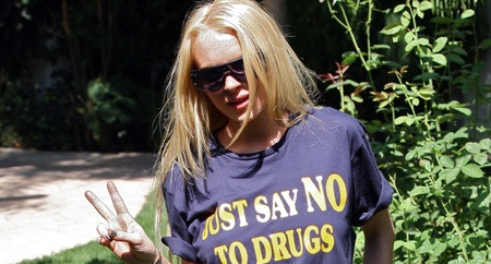 Lindsay Lohan on her way to rehab