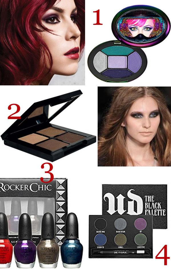 metallic makeup trends style board