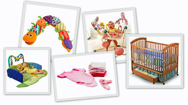 Nursery toys, layette, etc