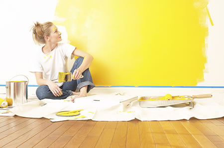 Painting your walls will liven up any room in your home.