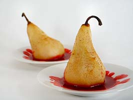 fall poached pears dessert recipe