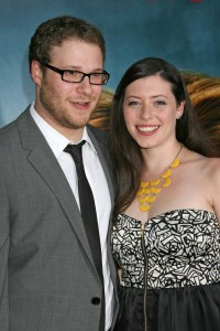 Seth Rogan and Lauren Miller