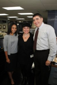 SheKnows on the set of Law and Order: LA
