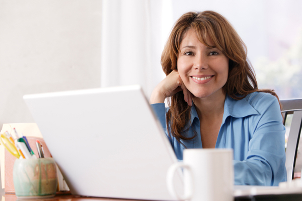 Telecommuting woman