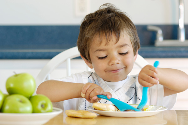 Preschooler eating