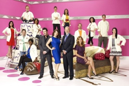 The cast and judges of Top Chef: Just Deserts