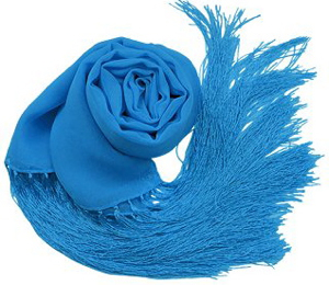 turquoise scarf,