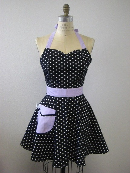 polka dot apron from etsy