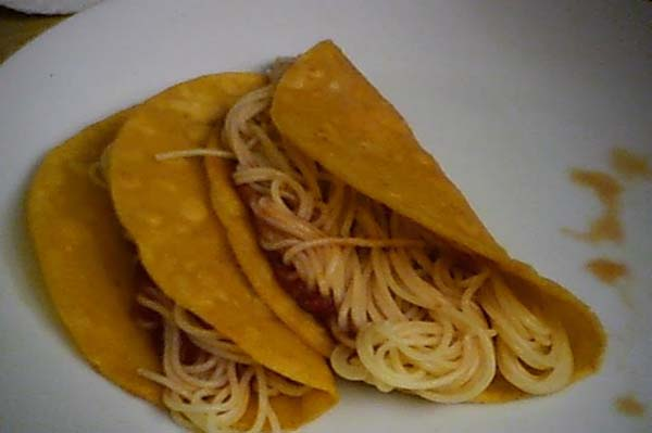 iCarly spaghetti tacos