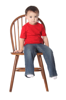 toddler in timeout chair