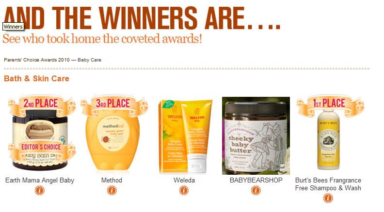 baby care skincare winners
