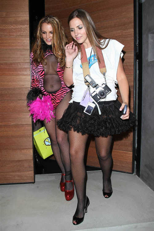 Celebrity Halloween Costume: Britney Spears and Ali Sims