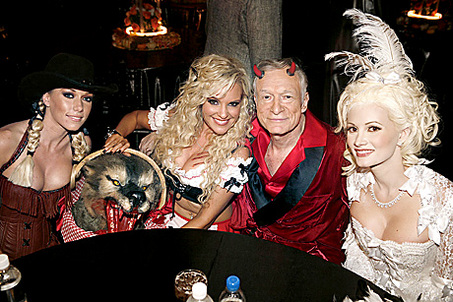 Celebrity Halloween Costumes: Kendra Wilkinson, Bridget Marquardt, Hugh Hefner and Holly Madison