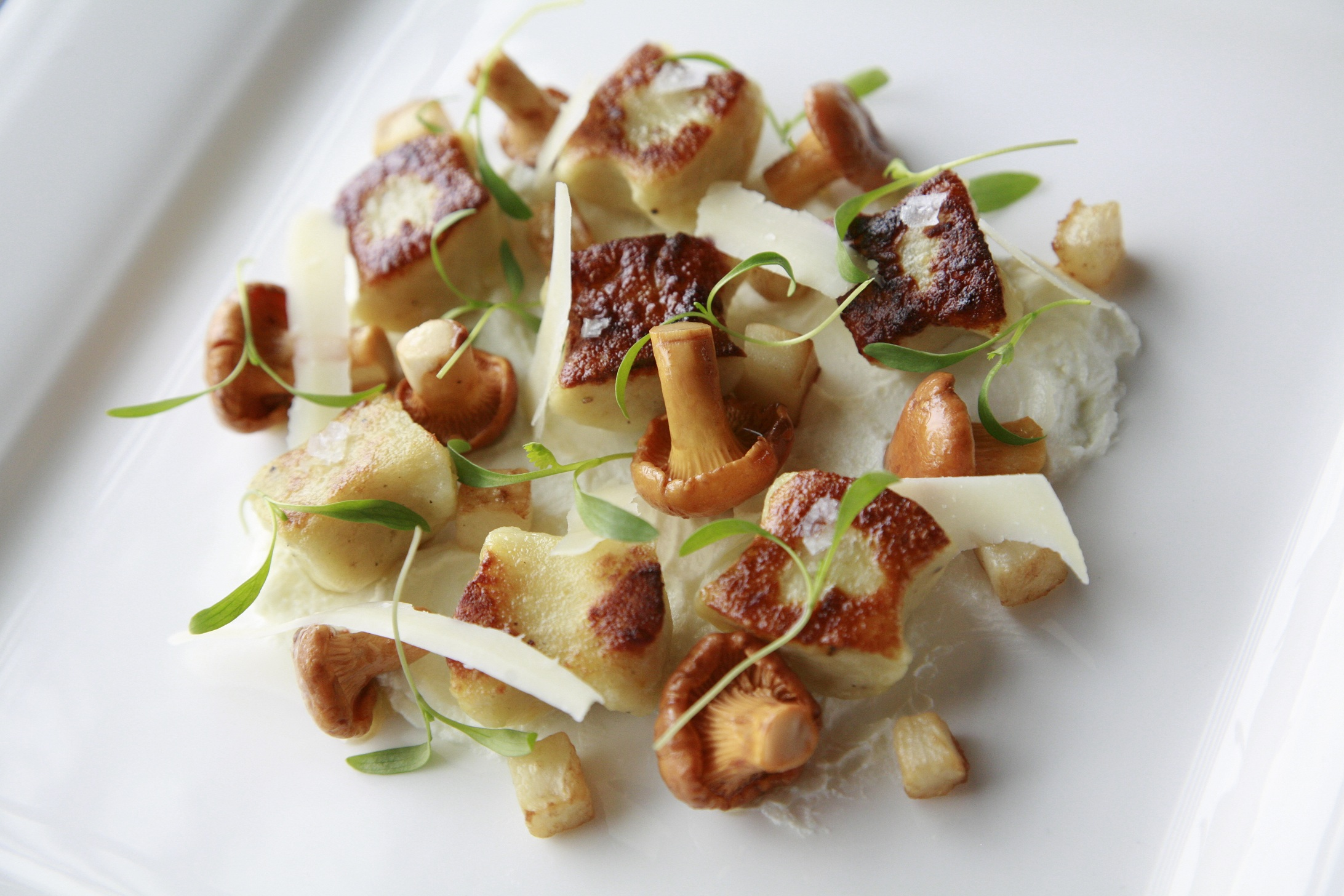 Chef Chris Haworth's uses organic and locally grown vegetables like wild mushrooms in his dishes