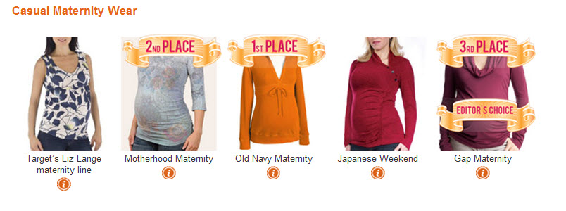 PCA Casual Maternity Wear Winners