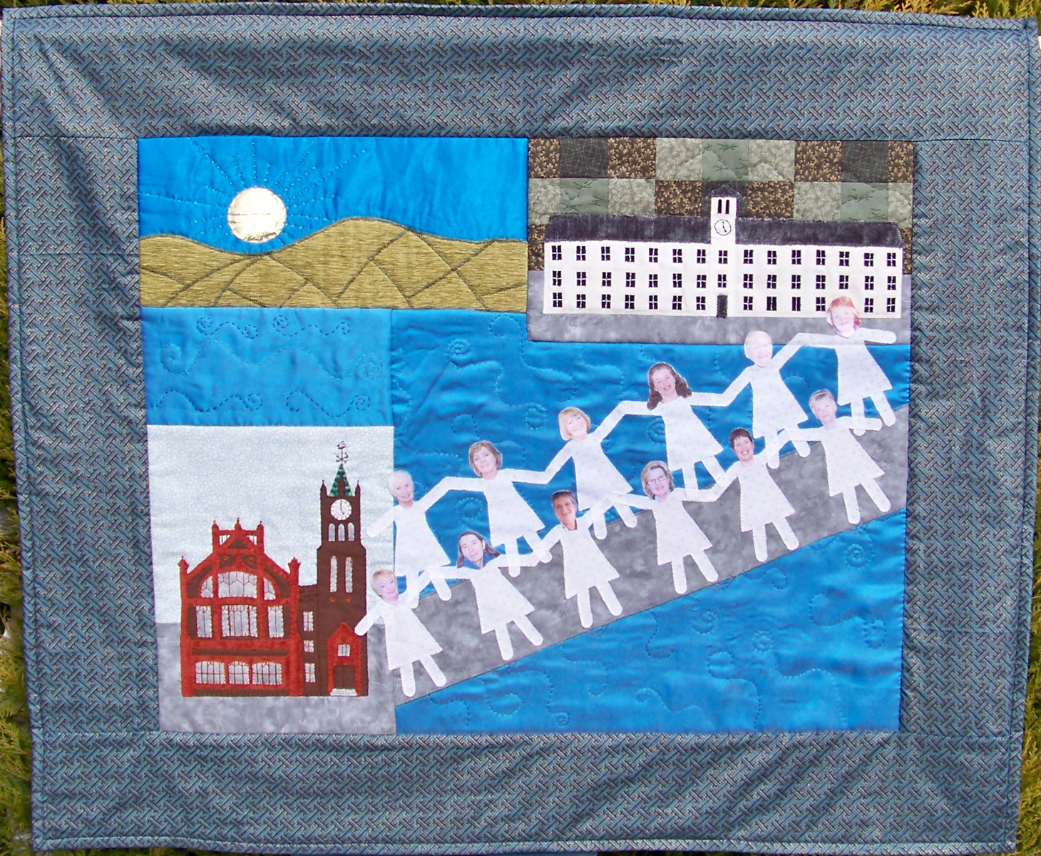 Kennedy's quilt The Lady Bridge is currently on display at Derry's City of Culture officies in Northern Ireland.