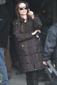 Angelina Jolie directs in Hungary