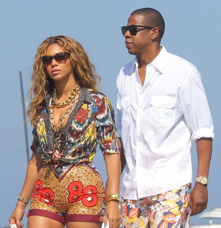 Beyonce and JayZ