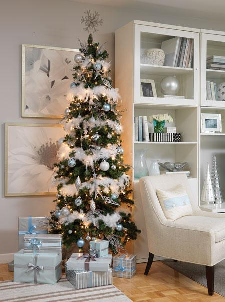 Silver and blue tree