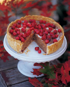 Cranberry, almond and cinnamon tart