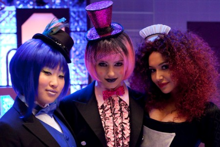 The girls of Glee in the Rocky Horror episode