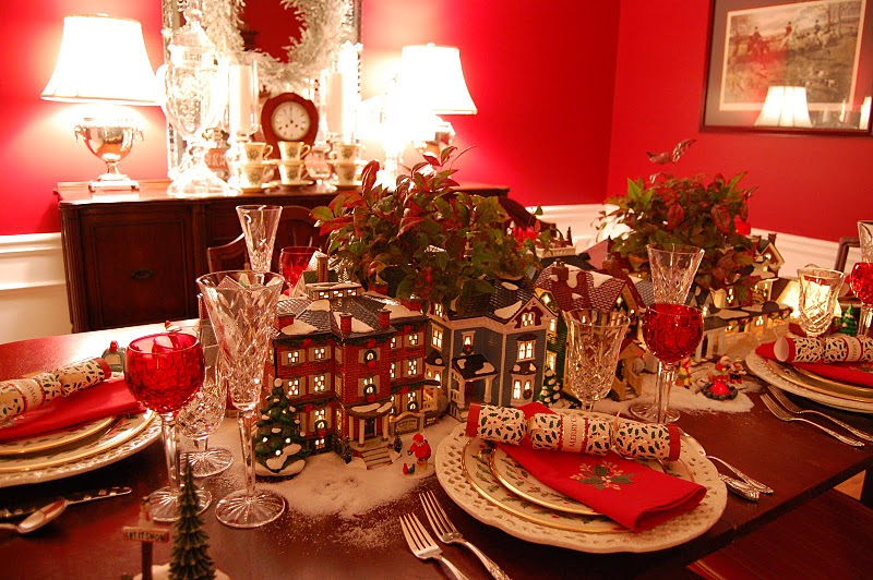 Home for the holidays tablescape