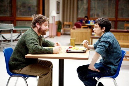 Zach Galifianakis and Keir Gilchrist in It's Kind of a Funny Story