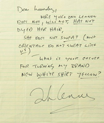 John Lennon letter