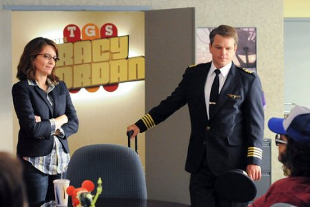 Tina Fey and Matt Damon on 30 Rock