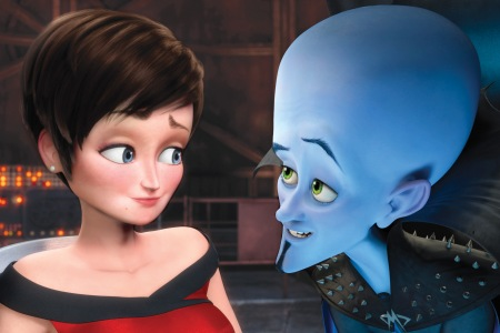 Tina Fey and Will Ferrell in Megamind