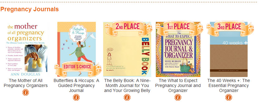 SheKnows Parents Choice Awards Winner 0 Pregnancy journal