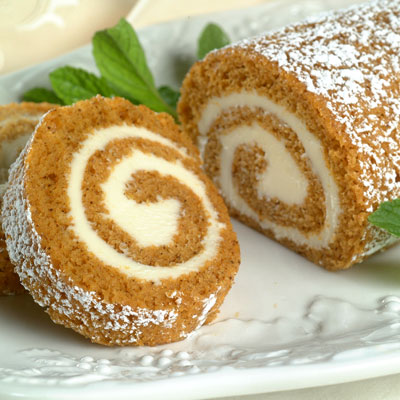 Pumpkin cake roll and more