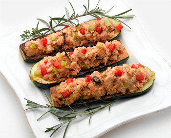 Wild-rice stuffed squash