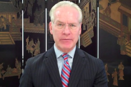 Tim Gunn delivers his message