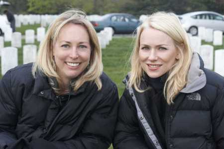 Valerie Plame and Naomi Watts on the Fair Game set