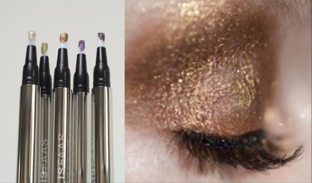 metallic highlighters eye makeup