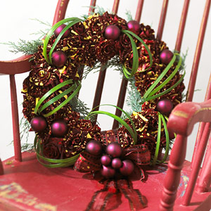 Violet and green wreath