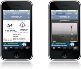 Weatherbug Mobile app