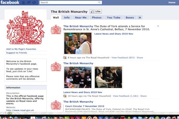 Queen Elizabeth joins Facebook