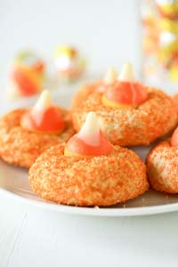 Candy Corn Kisses Cookies