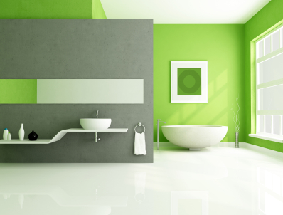 Go Green - Bathroom Walls