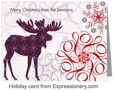 Holiday card from Expressionery.com