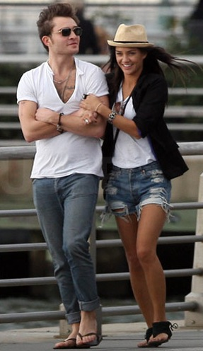 Jessica Szohr and Ed Westwick