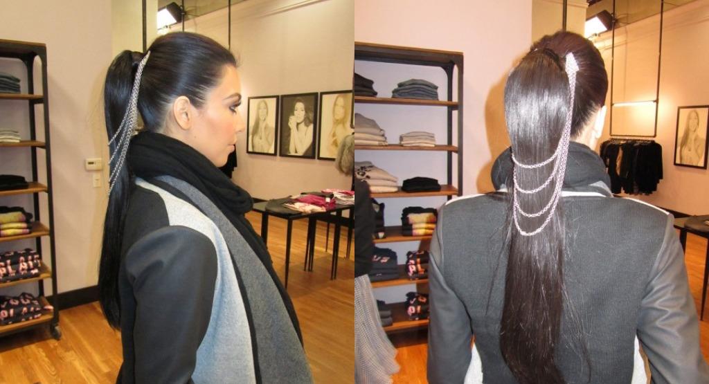 Linked ponytail