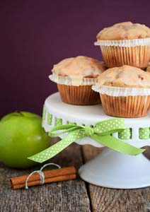 Maple glazed apple cinnamon chip muffins